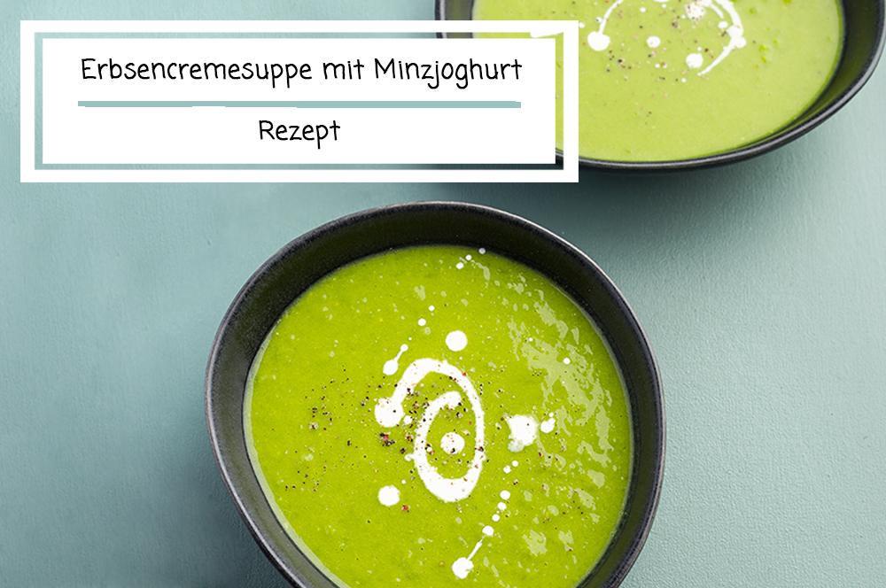 Erbsensuppe mit Minzjoghurt